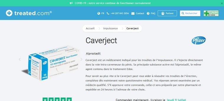 Caverject en ligne