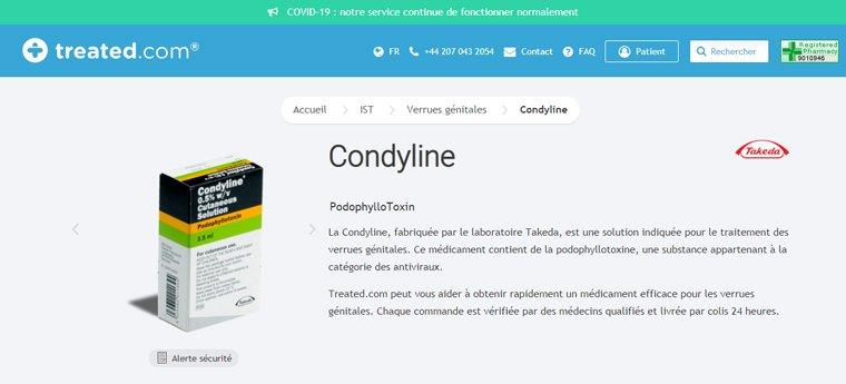 condyline en ligne