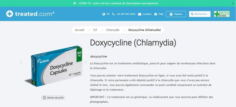 Doxycycline en ligne