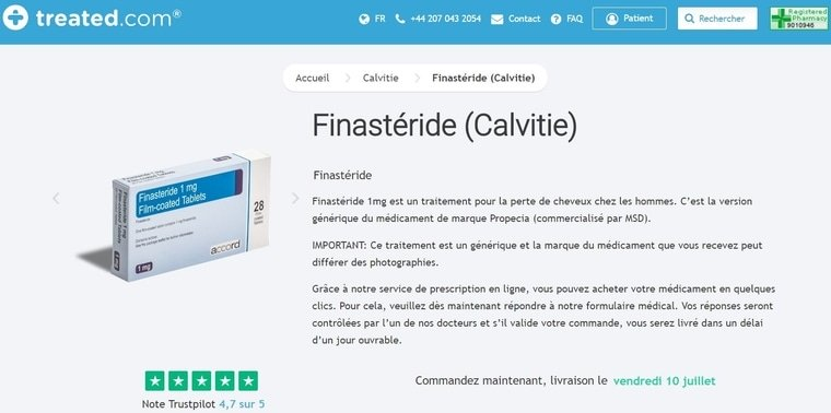 Finastéride (Calvitie)