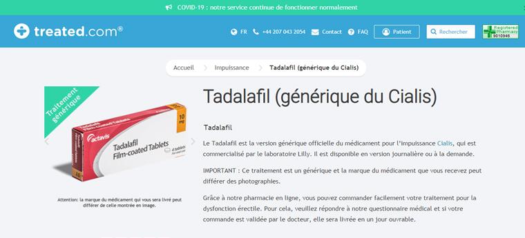 Tadalafil en ligne